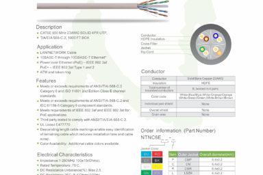 Cat 6E Specs Sheet
